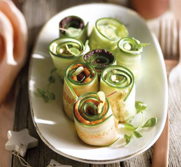 Rollitos de pepino con patés de dieta